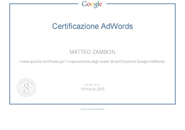 Google Partners - Certification piccolo